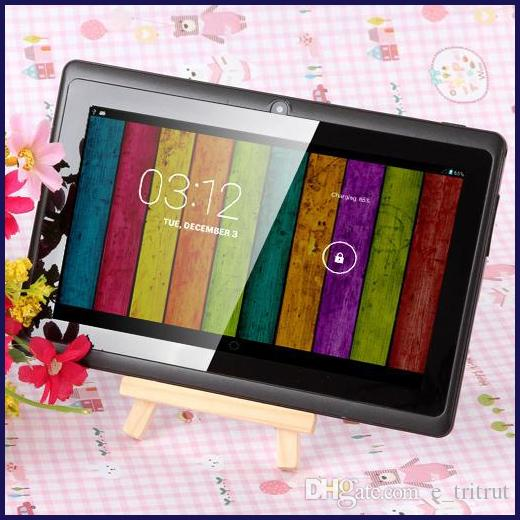7 inch A33 Quad Core Tablet PC Q8 Allwinner Android 4.4 KitKat Capacitive 1.5GHz 512MB RAM 8GB ROM WIFI Dual Camera Flashlight Q88 A23 MQ12