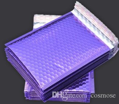 Roxo Poly bolha Mailers acolchoados Envelopes Auto Seal Mailing Envelopes Bolsas Pacote de 50pcs 18 * 23cm sacos de embalagem