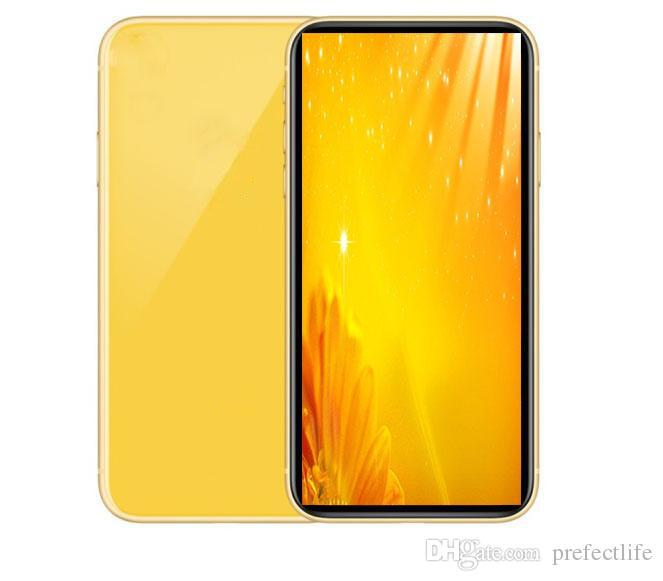 GooPhone 11 6.1inch Teléfonos celulares Quad Core 1 GB de RAM de 4 GB ROM MTk6580 Face ID smartphones Mostrar 4 GB / 256 GB muestran 4G LTE desbloqueado teléfono