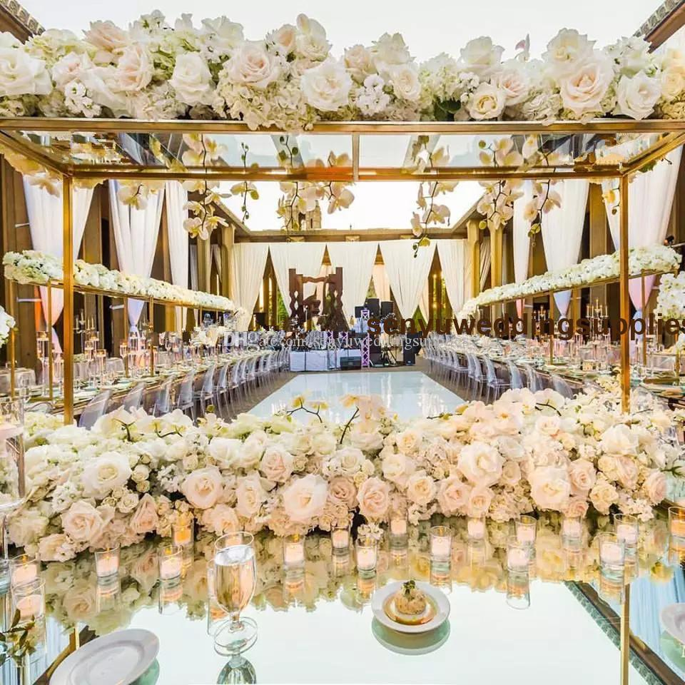 Flower Ball Table Decorations Wedding Centerpieces With Metal Stand flower wall backdrop for wedding flower wall stage decoration senyu0479
