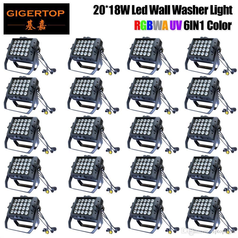 12 единиц LED Par 20x18W RGBWAP LED Stage Light Par Light с DMX512 для диско DJ машины проектор партии украшения Pro Stage Lighting