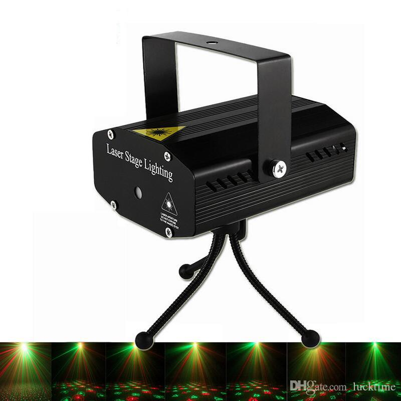 Party Light DJ Disco Lights Stage Lighting Projector Sound Activated Flash Strobe Light Party Home Show Bar Club Karaoke lamp