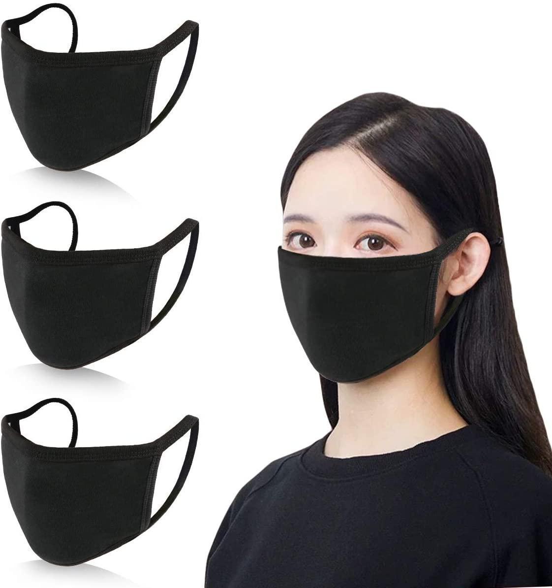 Дизайнер Anti-Dust Хлопок Рот маска Черный Защитные маски Unisex одноразовая маска для лица Человек женщина носить черный моды голодает перевозка груза