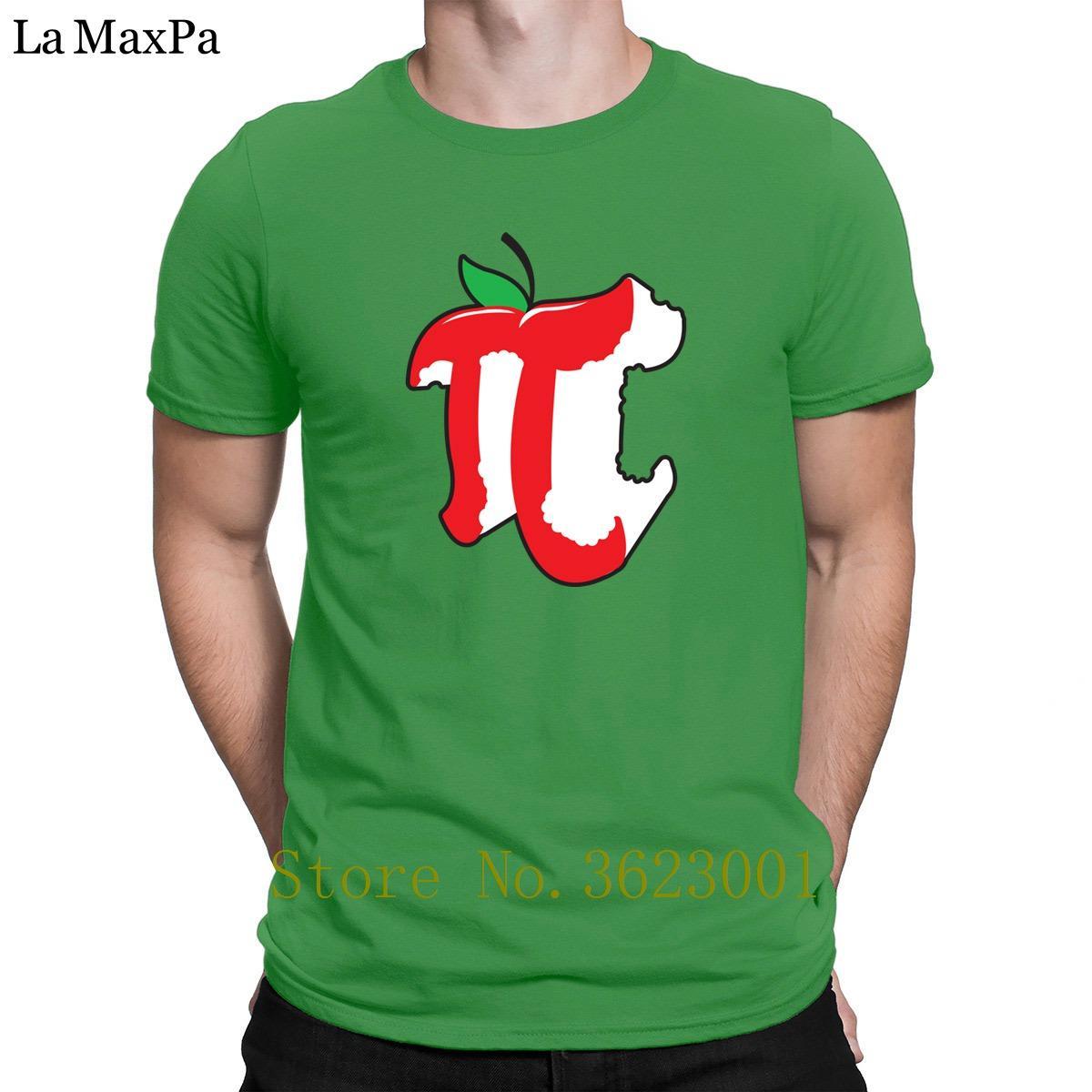 Impression Novelty T-shirt pour hommes Apple pi T-shirt pour les hommes Gents hommes de Nice T-shirt impressionnant T-shirt col pour Hommes Round Top Tee
