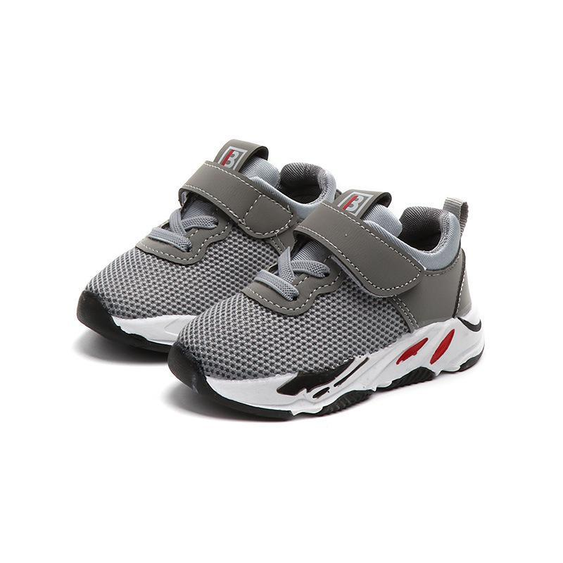 Infant Toddler Shoes Baby Girls Boys Casual Shoes Spring Autumn Pink Grey Outdoor Non-slip Children Kids Sport Running Shoes