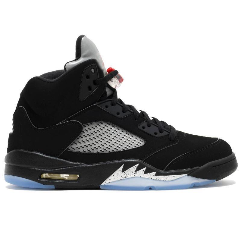 الجملة أسود لامع 5S أحذية أعلى جودة أسود لامع OG الميدالية الذهبية لكرة السلة حجم رجل إمرأة مع صندوق