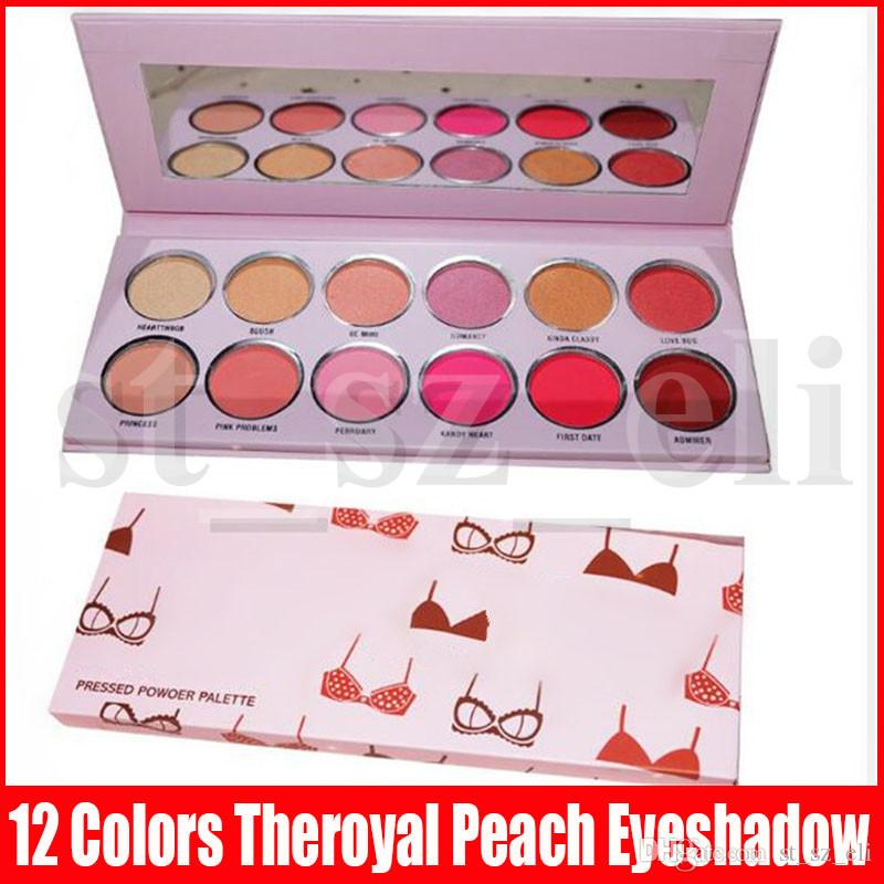 New Eye Makeup Valentine Day 12 Colors Theroyal Peach Eyeshadow Palette Matte Shimmer Bikini Printing Valentine Eye Shadows