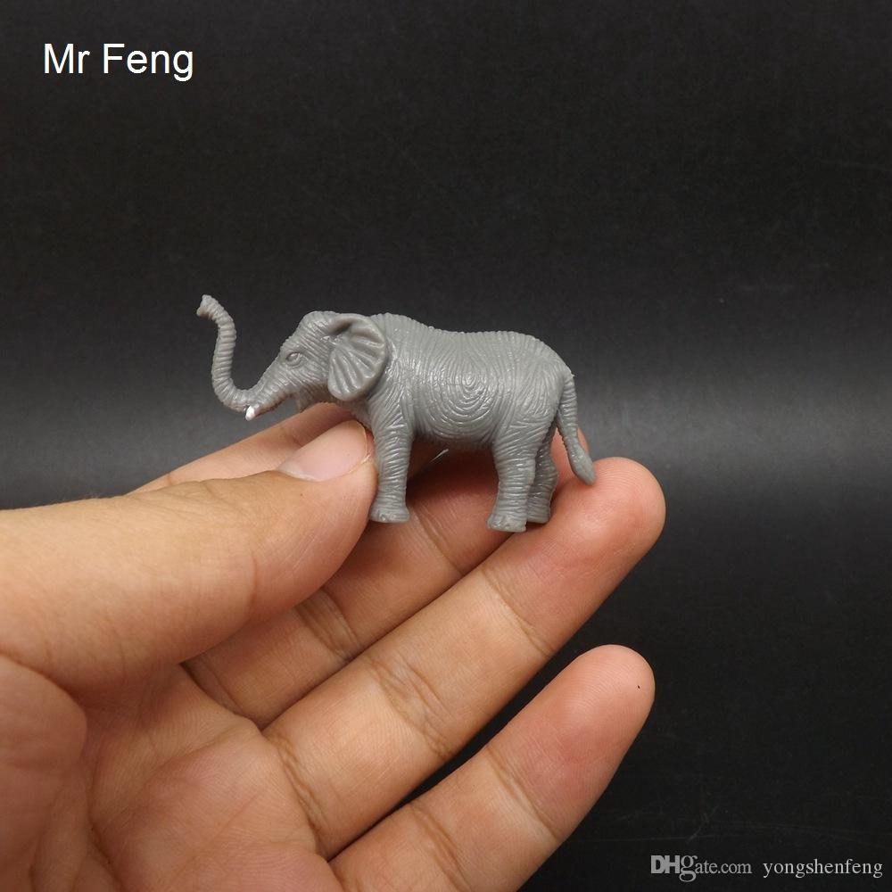 Mini Elefante Modelo Animal Aprendizaje de Juguetes Educativos Prop. Niños Aprendiendo Ciencia Descubrimiento Juguetes Modelo (Número de modelo I567)