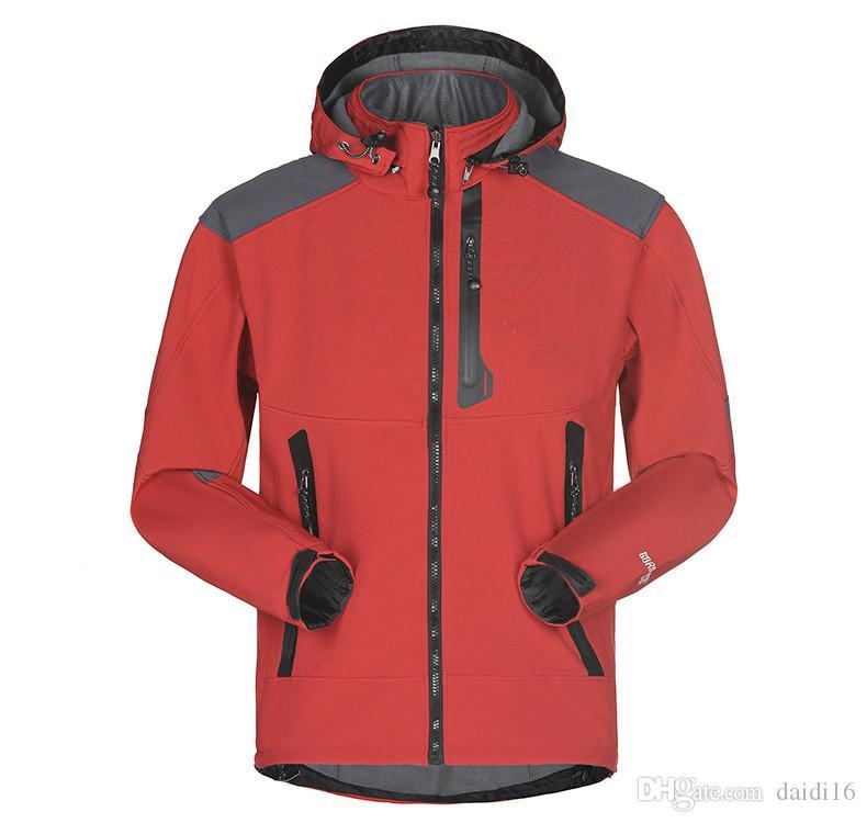 Neue Männer wasserdichte atmungsaktive Softshell Jacket Men Im Freien Sport Coats Mountainpeak Reit Mantel-Jacke