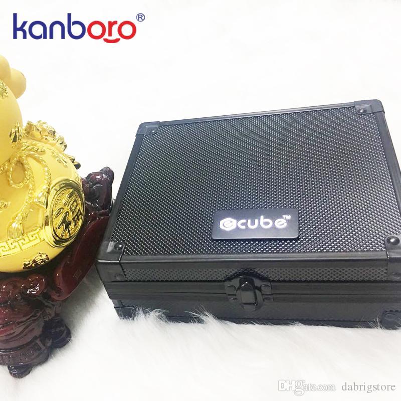 2019 beau dispositif vaping haute qualité plate-forme dab cire portable vaporisateur herbe sèche stylo de Kanboro kit eCube en stock