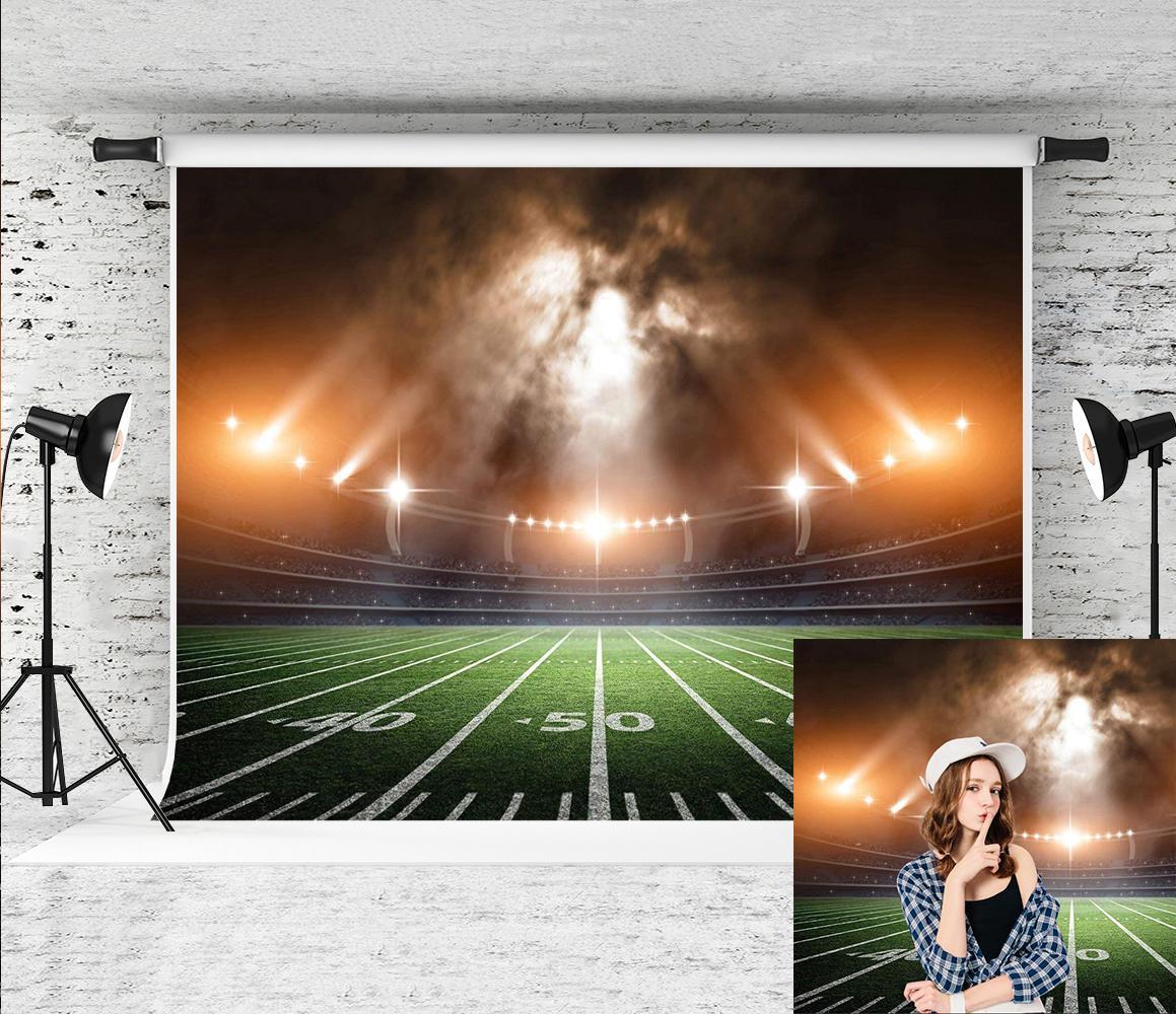 Dream7x5ft (2.2x1.5m) Americana Fotografia do campo de futebol backdrop Estádio Luz Foto por Sports Theme Partido Tiro do estúdio Prop