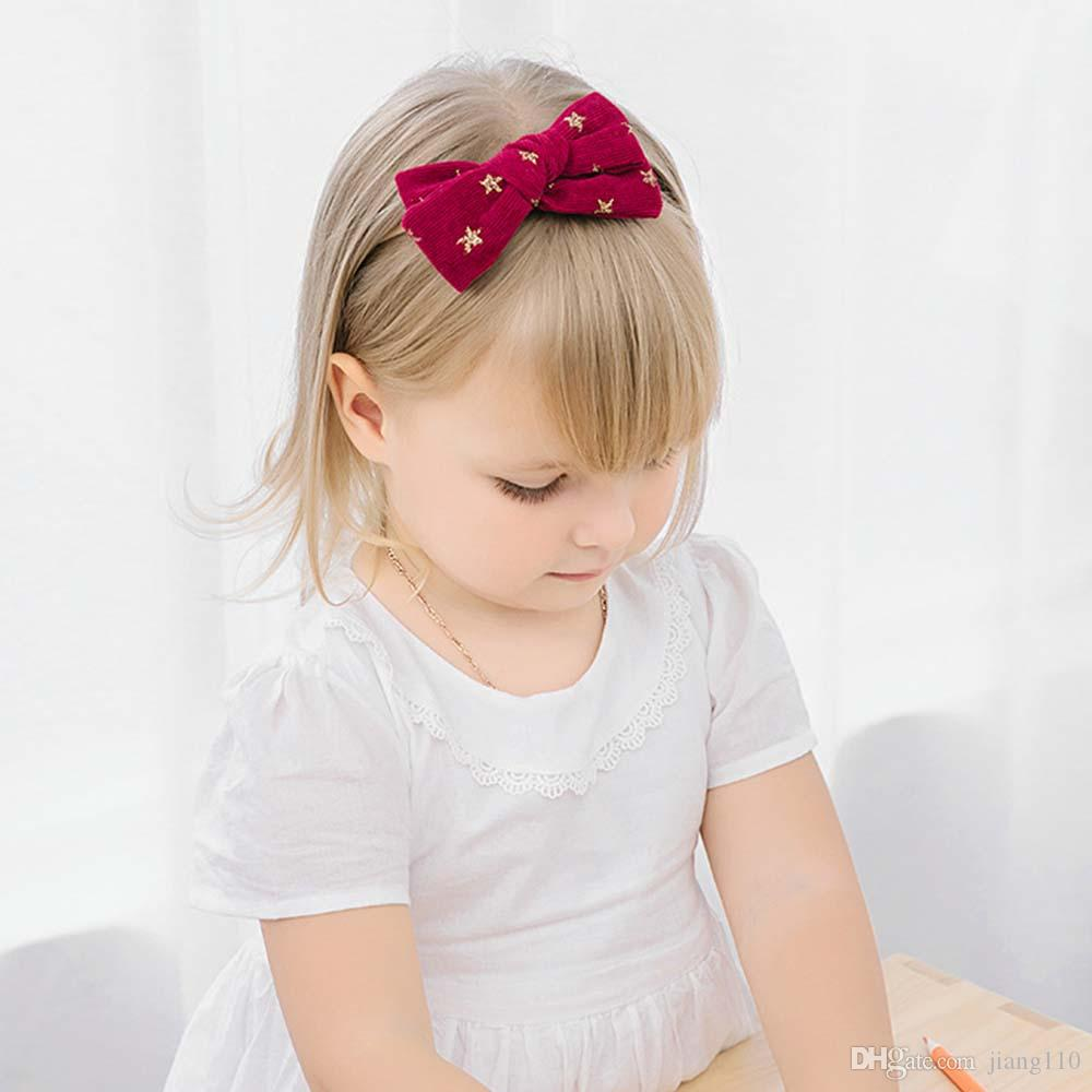 Elastic Hair Accessories Star Headwear Bowknot Hairband Baby Girl Headband