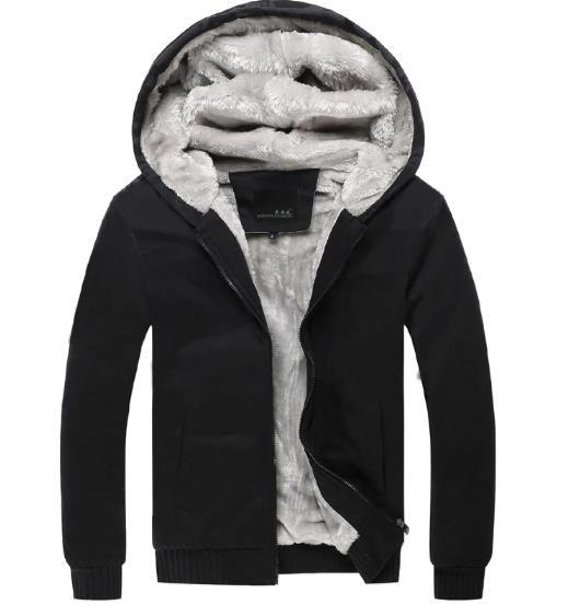 Jaqueta de inverno dos homens mais de veludo cardigan casual Casaco Outerwear com capuz casaco acolchoado casaco