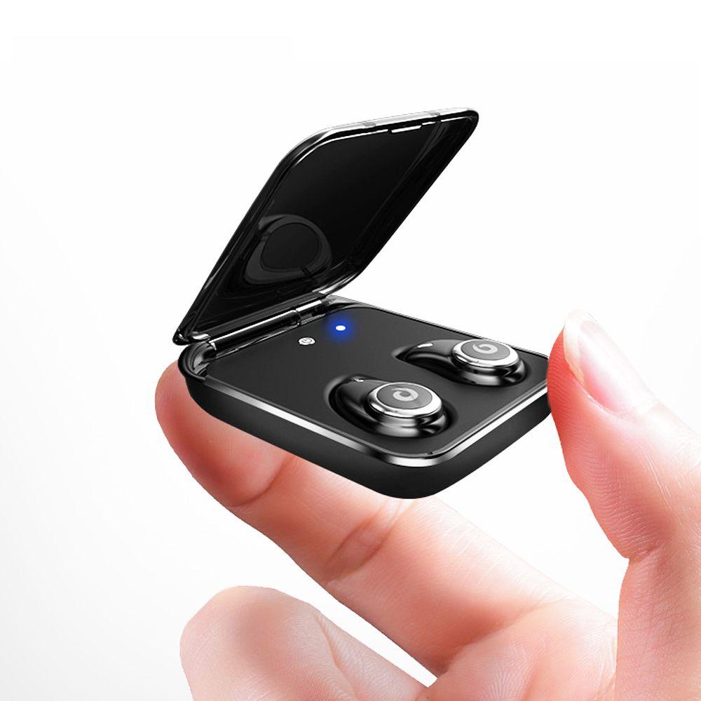 Bluetooth-Headset, HiFi-Touch-Smart-Ohrhörer, Kopfhörer mit Rauschunterdrückung mit mobiler Stromversorgung und Mikrofon Ipx8 Waterproof