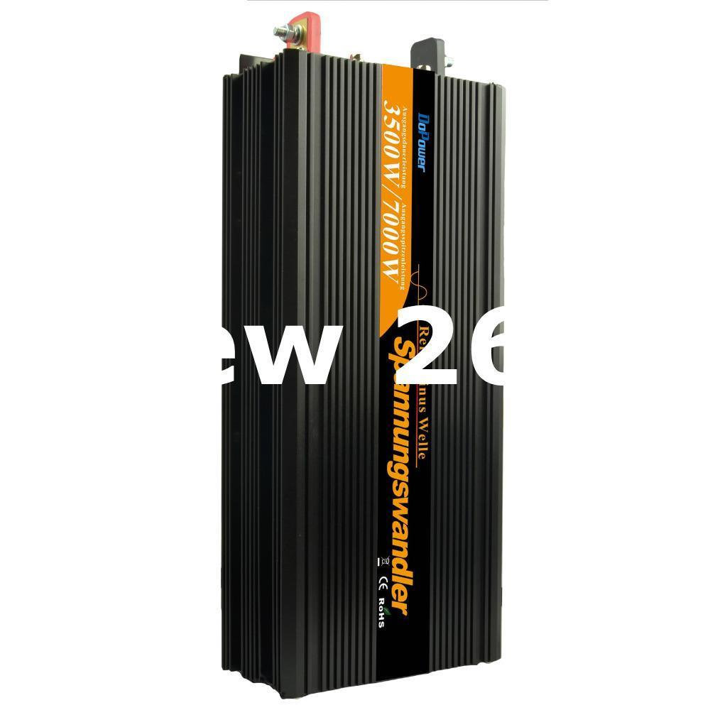 Freeshipping High efficient no noice pure sine wave power inverter 24v to 230v 220v 3500w(peak 7000w) power supply