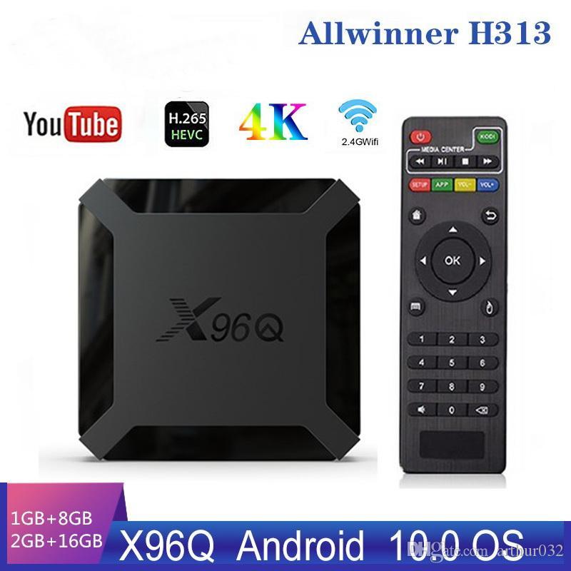 X96Q الذكية الروبوت 10.0 مربع التلفزيون Allwinner H313 رباعية النواة 2GB 16GB دعم 4K X96 س تعيين مشغل الوسائط Topbox