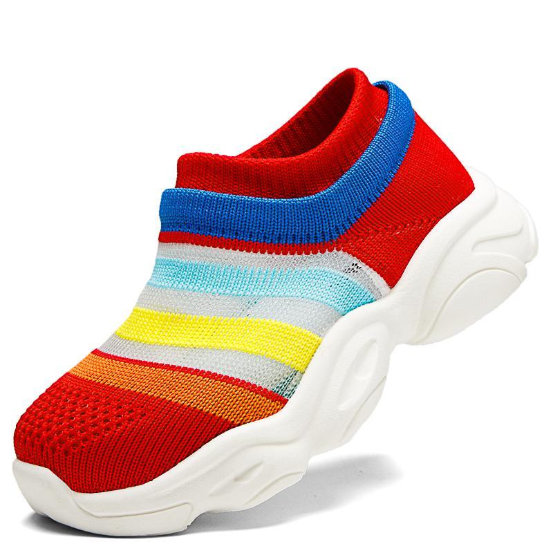Estate Bambini comode scarpe da ginnastica scarpe traspiranti figli unici netti bambino Calze Scarpe bambino formatori Moda Calzature Childr