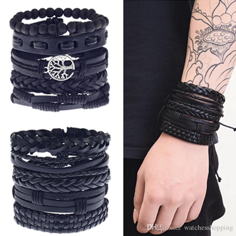 Feather Charm Bracelet Rouge Corde Tressé Bracelets Cadeaux de Noël Femmes Hommes