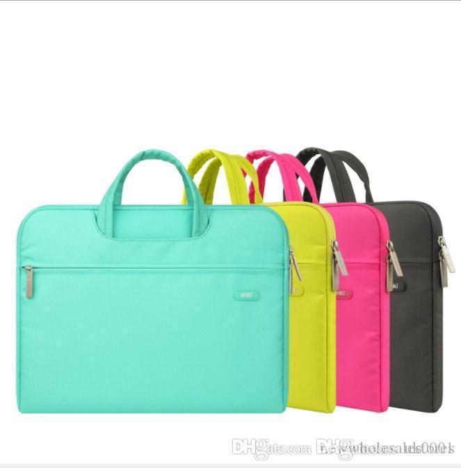 Wholesales New 11 13 14 15 15.6 inch Laptop Bag Computer Sleeve Case Handbags Dual Zipper Shockproof Cover For Laptop MacBook Air Pro Retina