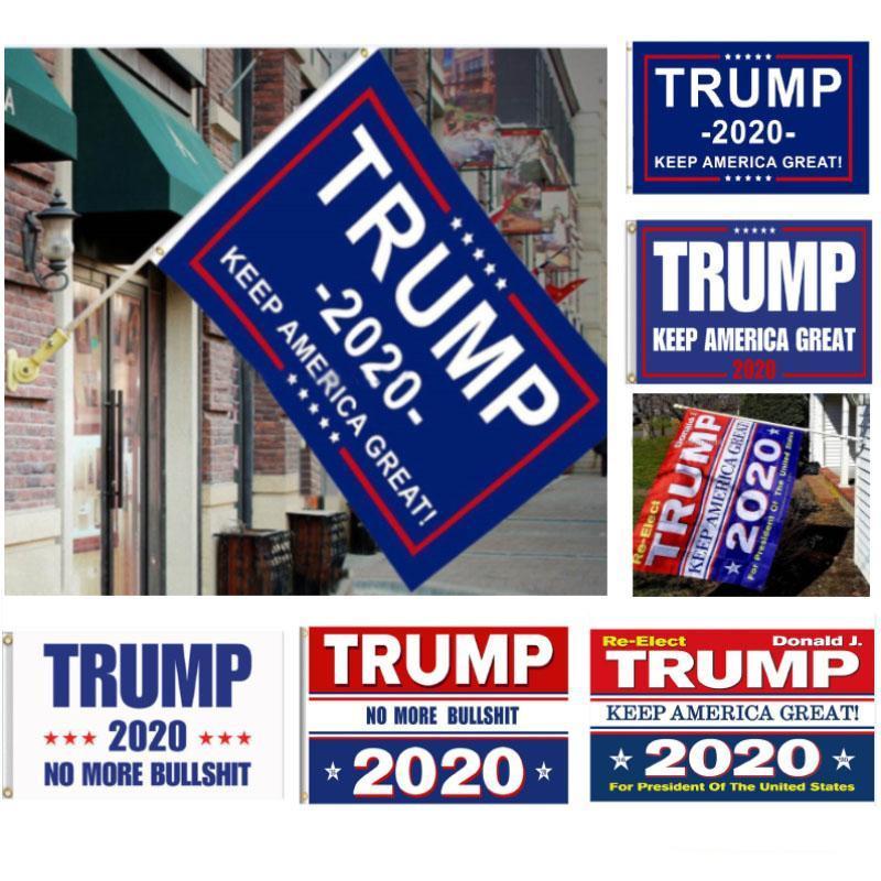 90 * 150см Декор Баннер Trump 2020 Флаг Америка снова для президента США Дональда Трампа Выборы Баннер Флаг Полиэстер Donald Flags New