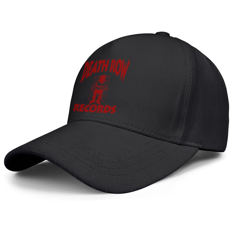 Uomo e berretti da baseball delle donne papà pianura del cappello di modo camionista personalizzato di colore Death Row Records l'album rosso bule Distressed Black Box 2pac