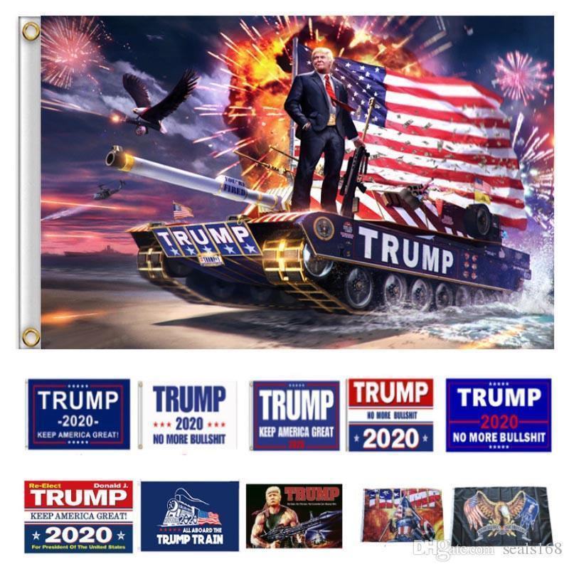 Donald Trump 2020 Başkan Bayraklar Amerika Büyük Bayrak İçin Başkanı Kampanya Banner Flags tutun 90 * 150 cm HH7-1988