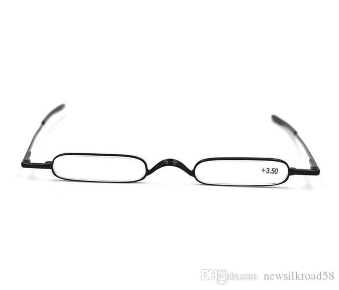 الرجال والنساء القلم الجيب نظارات القراءة سبيكة المحمولة حاوية الشيخوخي خفيفة مصغرة للطي قراءة الزجاج إرسال مع حقيبة القماش