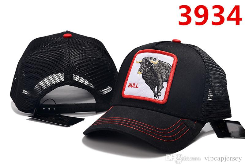Embroidery Bull Wolf Cap High Quality Summer Mesh Baseball Cap Freedom Adjustable Hat Popular Couple Ball Cap Outdoor Golf Sports Hat