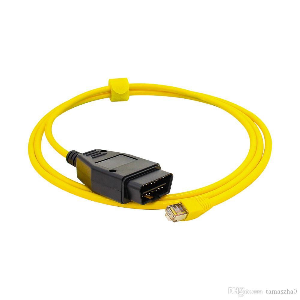 LOONFUNG LF68 ESYS Data Cable For BMW ENET Ethernet to OBD Interface E-SYS ICOM Coding for F-series Diagnostic Cable