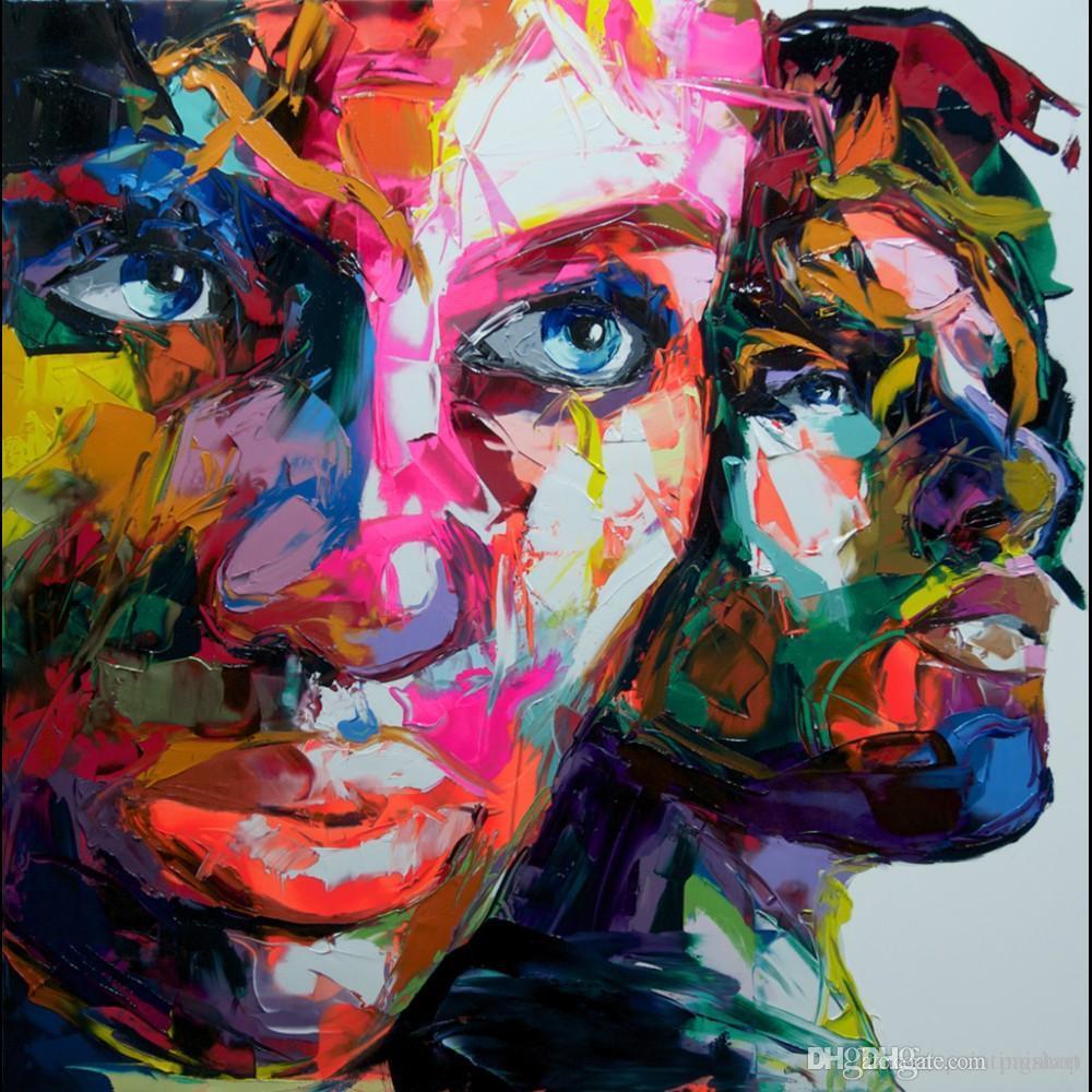 Франсуаза Nielly Palette Knife Impression Главная Картины Современные Портрет ручной работы маслом на холсте Выпуклые и вогнутые Texture Face220