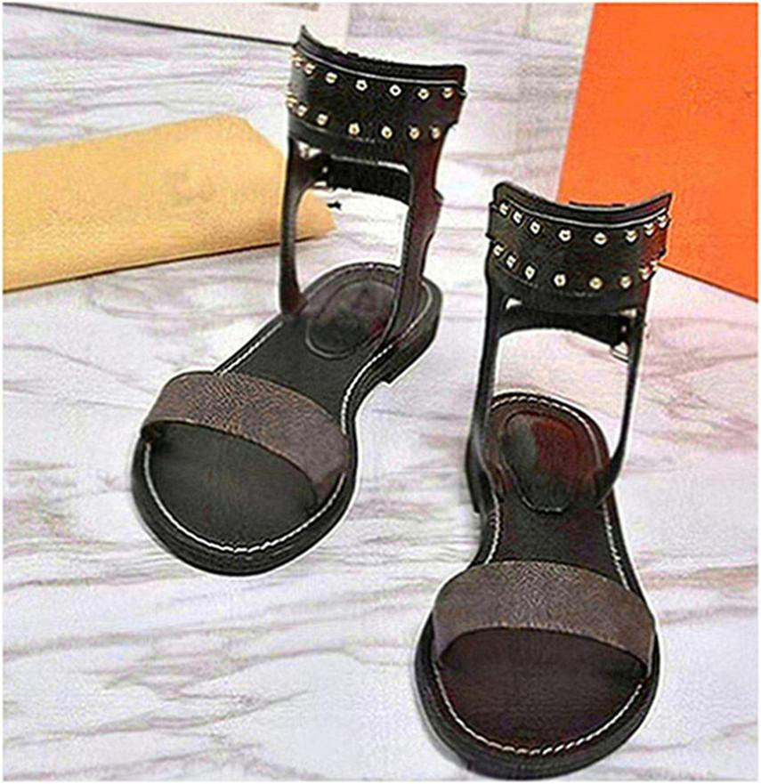 Hot Heels Vendita-Estate Romana Sandali Sandali Genuine Leather Beach Open Toe Hollow formato 35-40 con la scatola A84