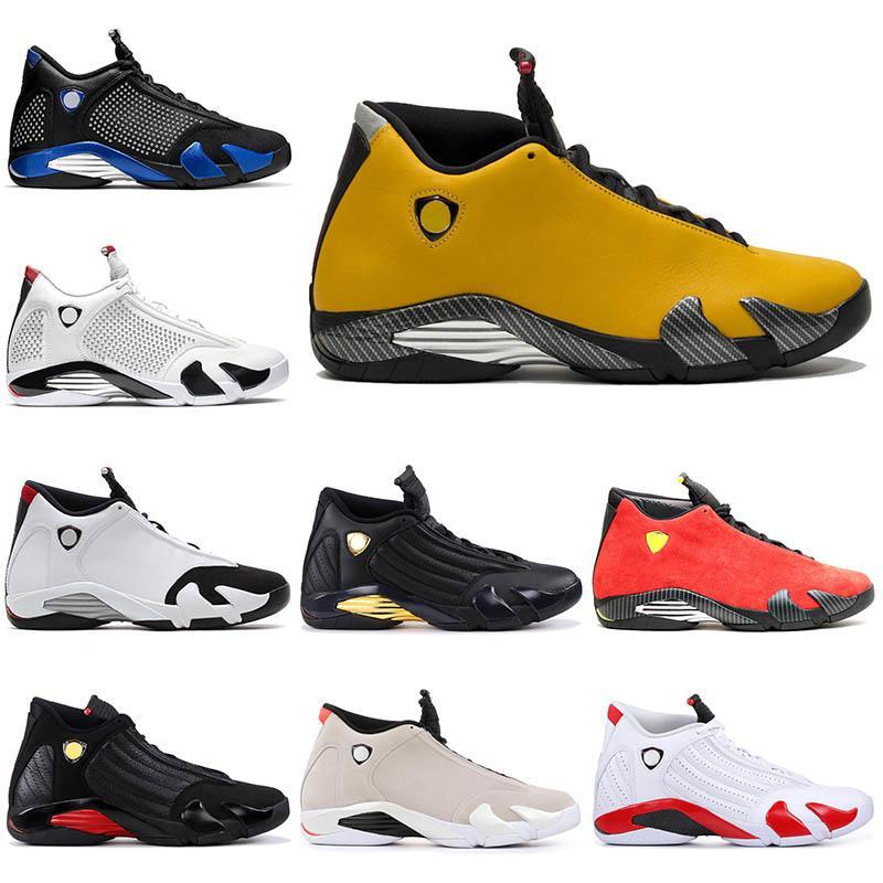 Mens 14s Jumpman 14 XIV Reverse Ferr Suede Shoes Trainers Thunder Candy Cane Desert Sand SPM Black Blue White Men Sport Sneakers 7-13