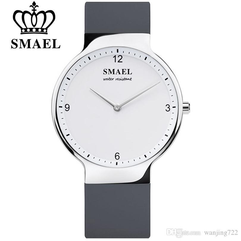 Moda Feminina Vestido Relógios SMAEL Casal Original Relógio Homens Data À Prova D 'Água Womens Silicone Strap Wristwatch