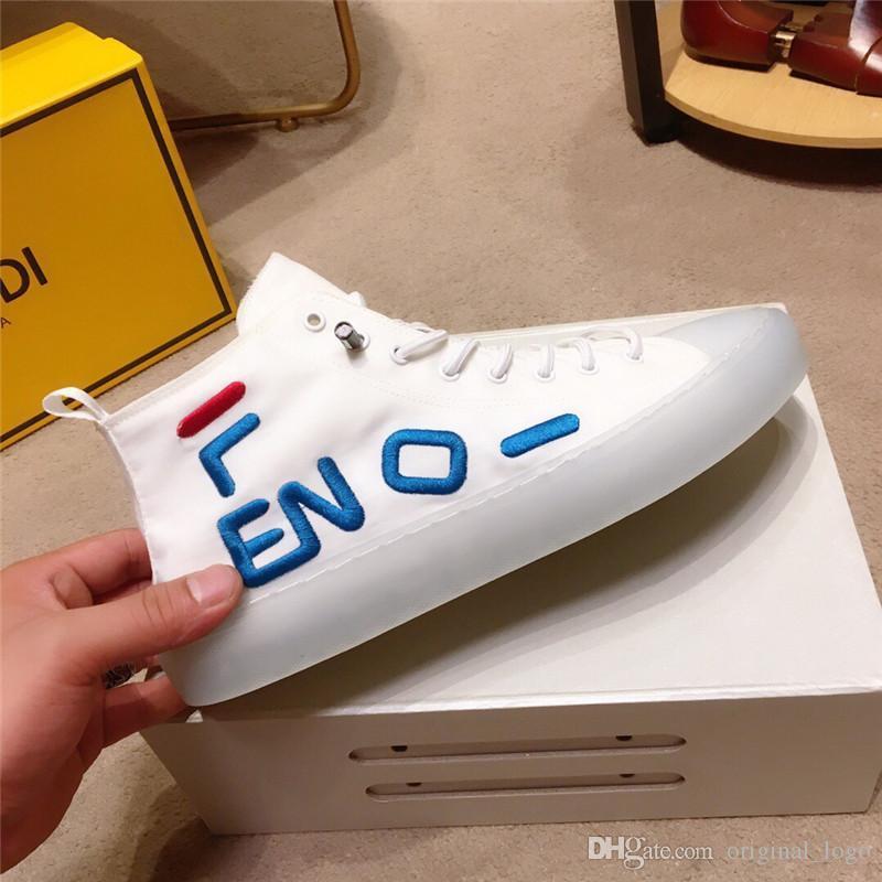 las mujeres de los hombres de los zapatos ocasionales de la marca nueva calidad superior de lujo genuino Caminar deportivo de cuero Trainer Moda Ocio Ejecutar la zapatilla de deporte con la caja 25