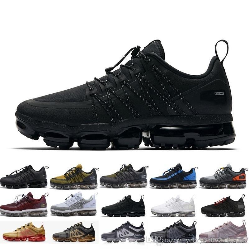 Top Quality Run Utilitário Preto Refletir Metal Homens De Prata Sapatos Casuais Triplo Branco Médio Azeitona Homens designers Sapatos 36-45