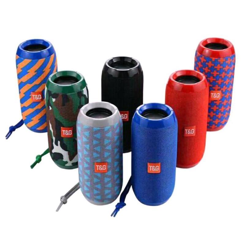 TG117 Portable Bluetooth Speaker Wireless Bass Column Waterproof Outdoor USB Speakers Support AUX TF Subwoofer Loudspeaker TG117 Speakers
