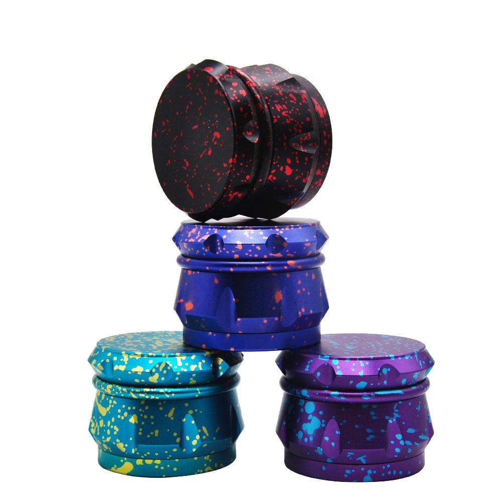 4 Layers Herb Tobacco Grinders 4 Layer Aluminum Alloy Teeth Tobacco Dry Herb Grinders for Smoking Space Case Grinde