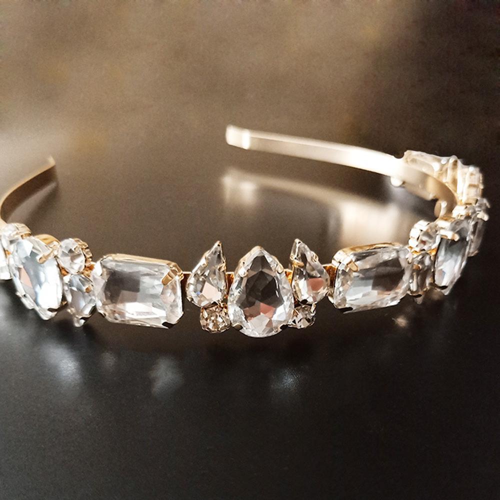 Tiaras e coroas de cristal de noiva Gem Headband de luxo Hairbands Acessórios para o cabelo Enfeites de cabelo para mulheres jóias