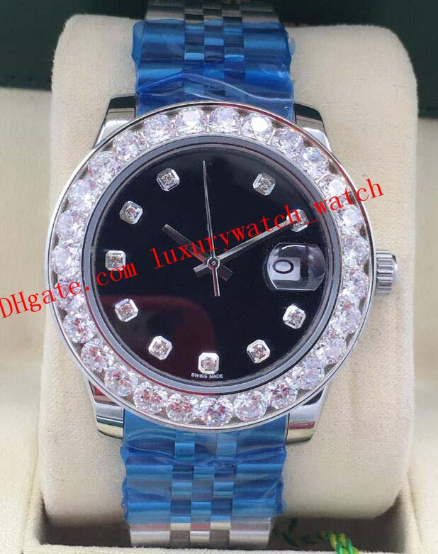 Hot 8 ventes de style Luxe Montres Bigger Diamond Bezel Dial Diamond Asie 2813 Mens 116300 116334 116234 40mm Montre automatique Mode Hommes