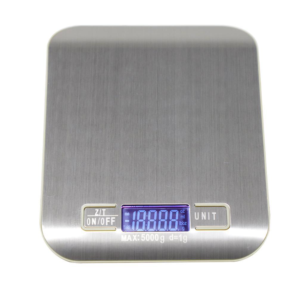5/10 kg Cuisine Ménage Balance électronique alimentaire Balances régime d'outils de mesure Slim LCD numérique Pesée électronique Balance XNC