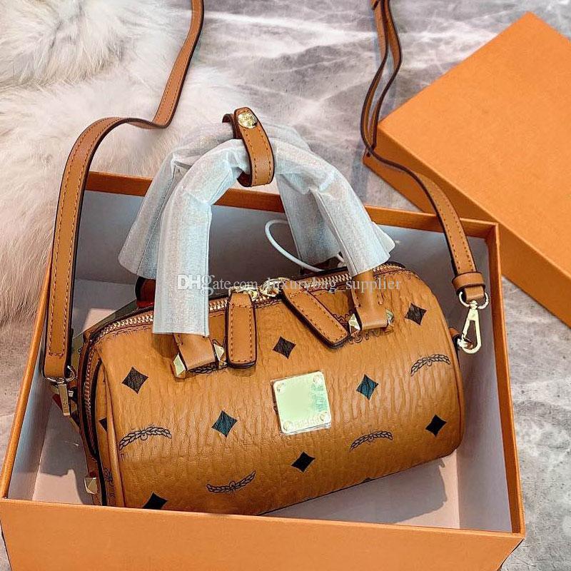 Handtaschen Barrel Paket Umhängetasche Geldbeutel Art und Weise Frauen-Handtaschen-echtes Leder-Taschen-Tasche Schreiben Reißverschluss Dame Beutel-freies Verschiffen