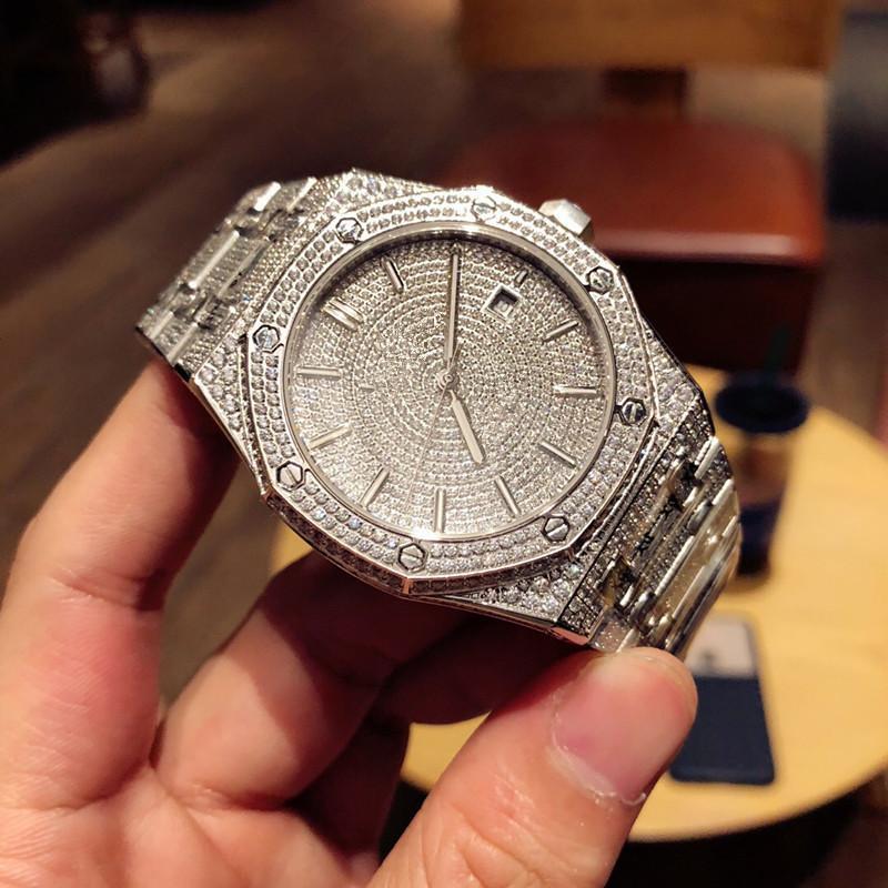 Yüksek kaliteli lüks mens saatler 41mm tasarımcı elmas izle 3120 hareketi saatı Luxusuhr montre de luxe reloj de lujo