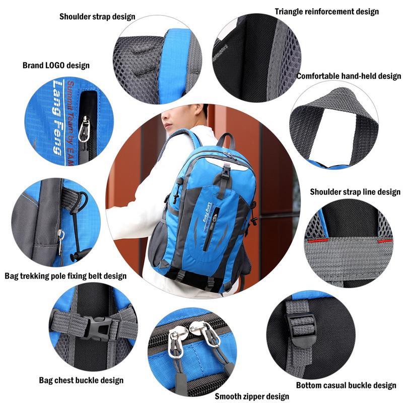 40L étanche sports de plein air alpinisme camping randonnée voyage trekking vélo rucksack extérieur voyage sacs sacs sacs qhmxg