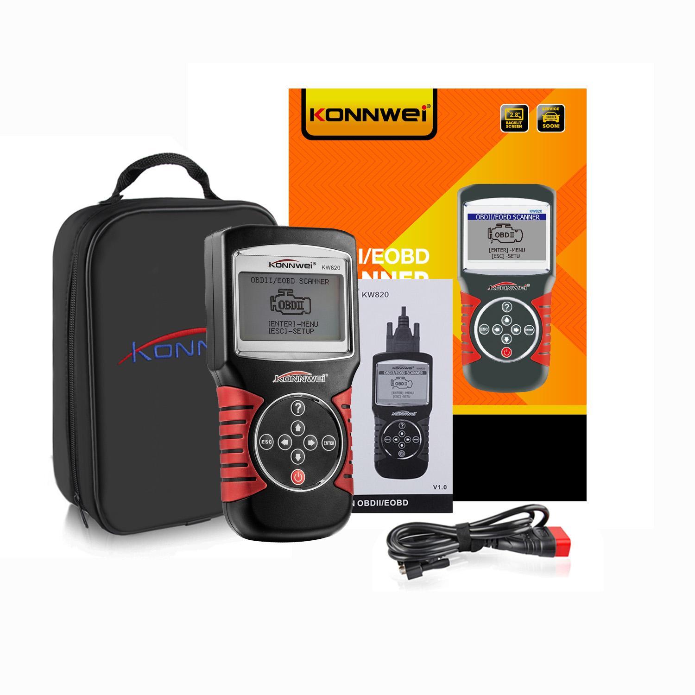 KONNWEI KW820 Car Auto EOBD OBD2 OBDII Scanner Diagnostic Tool Engine Fault Code Reader Automotive Diagnostic Scanner Tool