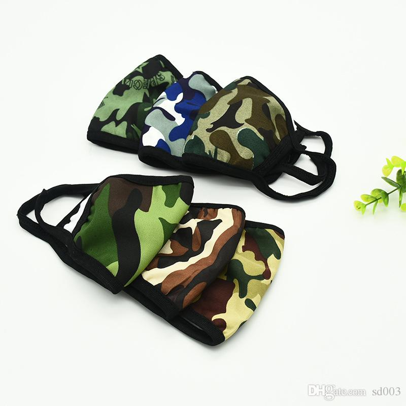 Stylish Protect Mascherine Mouth Masks 2 Layer Camo Printting Anti Dust Droplet Splash Adults Face Mask Warm Respirator Spring Winter 1ry E1