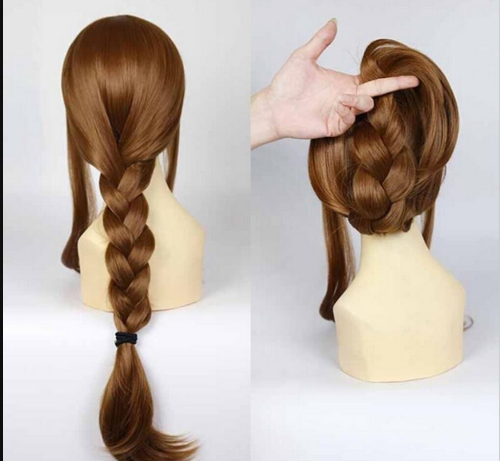 WIG LL 003047 Nova Moda peruca Charme Longo Marrom das mulheres Resistente ao calor perucas Completas