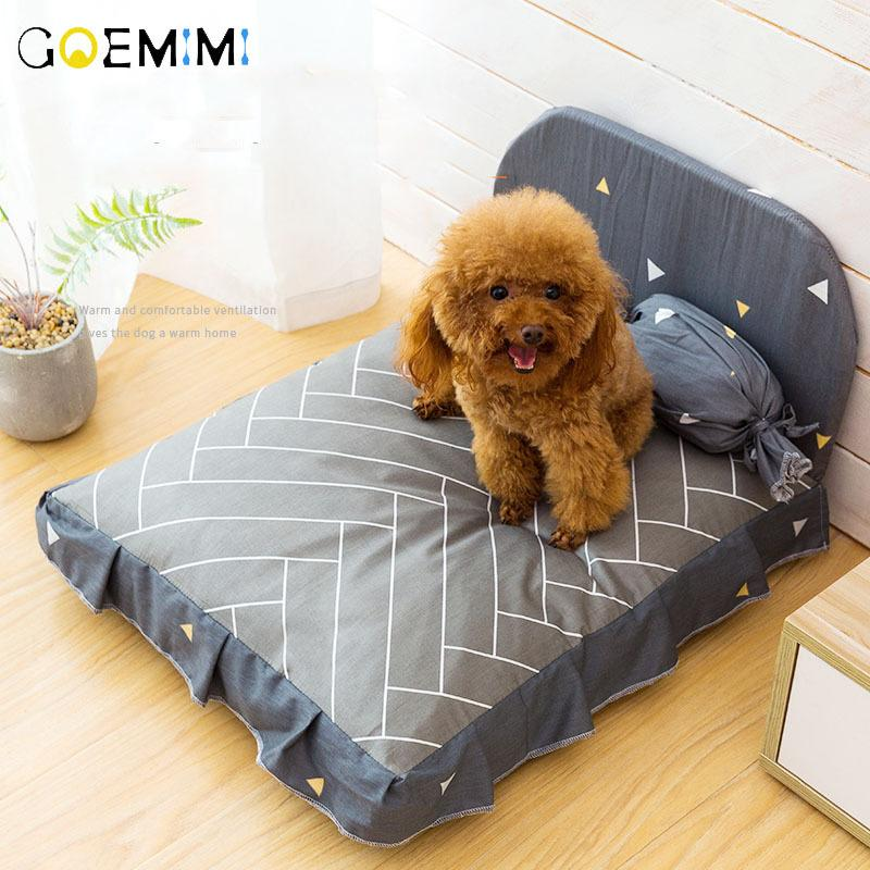 Dog Bed Cushion for Large Dog Lovely Puppy Breathable Dog House Pad Pet Nest Sofa Blanket Mat for Animals Y200330
