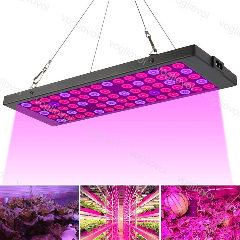 Full Spectrum Led Grow Lights 75LEDs Ultra Aluminium PC Cover For Covered Grow Tent Green Houses Plant Hydroponic Systems DHL