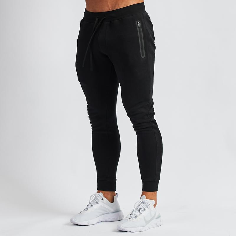 (Pode adicionar seu próprio logotipo) Calça de Jogging Homens formação Pants GYM Sólidos Sportswear Jogger Esporte homens que funcionam Juramento