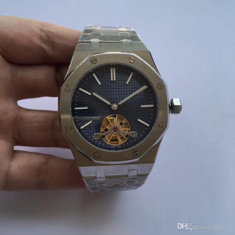 hombre de lujo del reloj automático del movimiento 316 de acero refinado de Watch-caja de acero inoxidable de 42 mm placa de dial / blanco Negro Pulsera de acero reloj de pulsera
